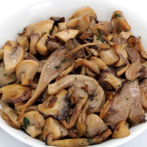 Fricassée de champignons sauvages