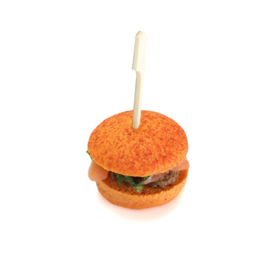 Mini burger saumon