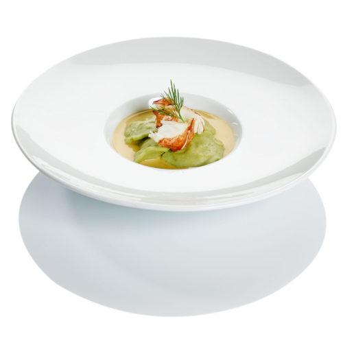Ravioles aux dès de homard à la crème de Sauternes