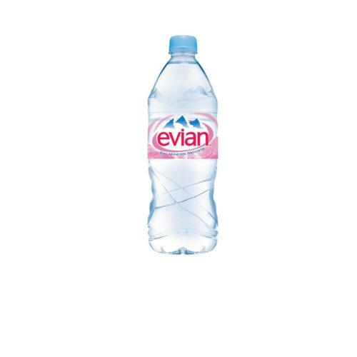 petite bouteille d'eau Evian