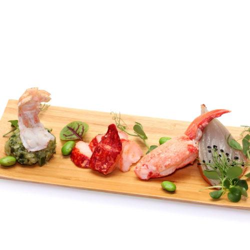 Homard, langoustine et tartare de courgettes
