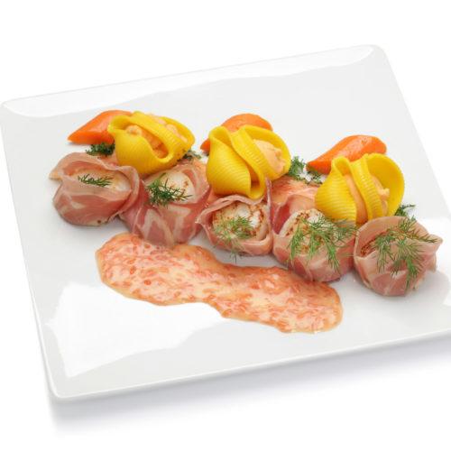 Saint-jacques, pamplemousse et pancetta