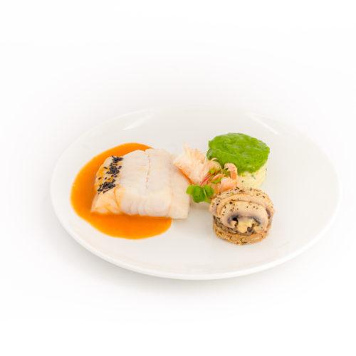 filet d'aiglefin coulis de langoustine