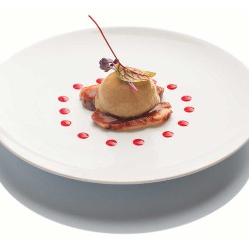 Foie gras gelée de coing et canard laqué