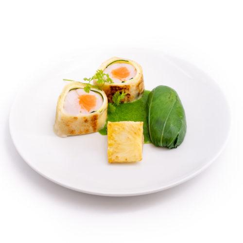 Entrelacé de saumon et cabillaud sauce toscane