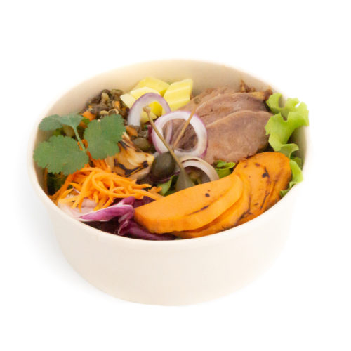Buddha bowl pulled beef