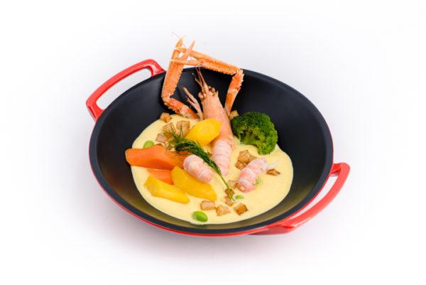 belles langoustines et sabayon crémeux menu-grande-epoque-noisette-de-veau