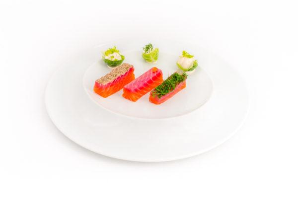 déclinaison de saumon gravlax