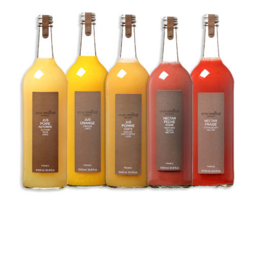 5 jus alain milliat fraise pomme orange peche poire