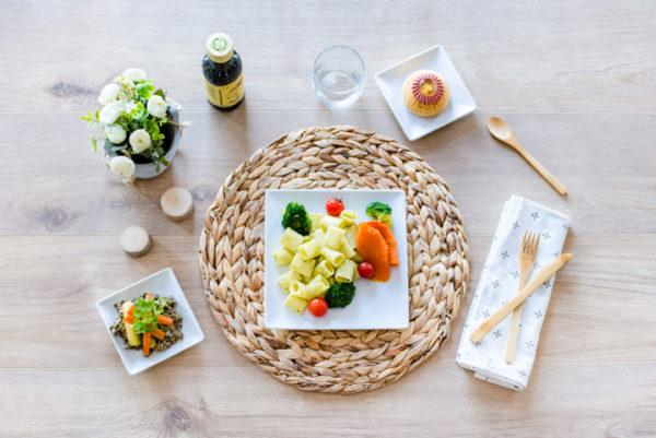 plateau repas végétarien