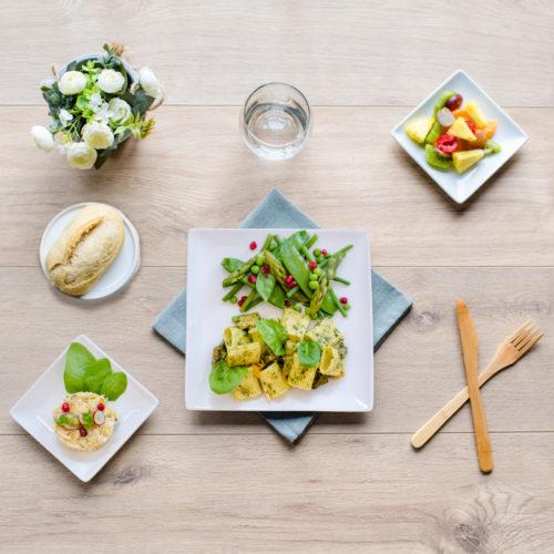 plateau repas vegetarien verdure
