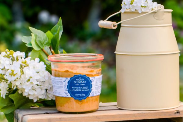 Ravioles à la ricotta aux dés de homard à la crème de Sauternes jardin